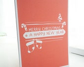Red Modern Graphic Christmas Card
