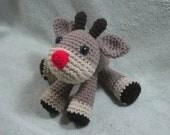 Crochet Reindeer Pattern - Amigurumi How-To PDF - Moose Holiday Animal Instand Download