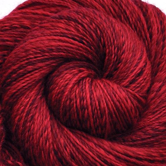 SALE - Handspun yarn - MARS - hand-dyed Superwash wool, worsted weight. 300 yds.