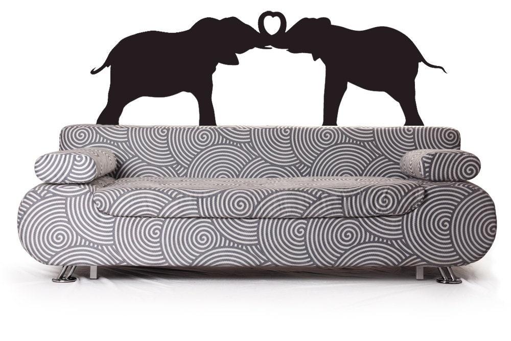 Elephant nursery elephant decor elephant decal trunk for Elephant heart trunk