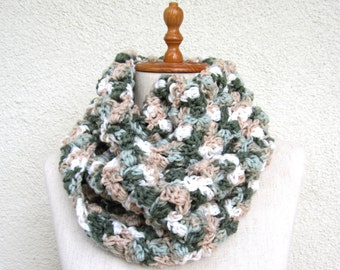 Crochet Scarf Infinity extra large chunky circular circle for woman