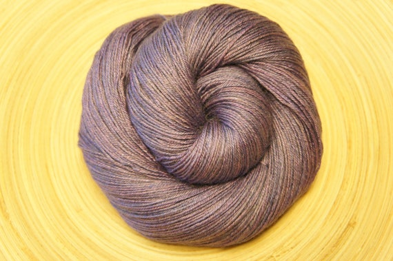 Violet Aster...Fingering Weight, 50/50 Silk and Baby Camel...100g, 438 yards