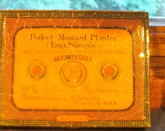 1930  Mustard Plaster Tin Johnson and Johnson Tin