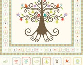"Good Life by Deena Rutter for Riley Blake Designs, 36"" Panel Cream, SKU P2881, 1 yd"