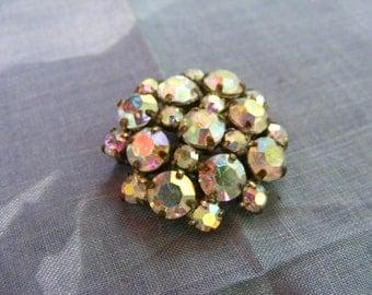 Vintage Sparkling Rhinestone Brooch