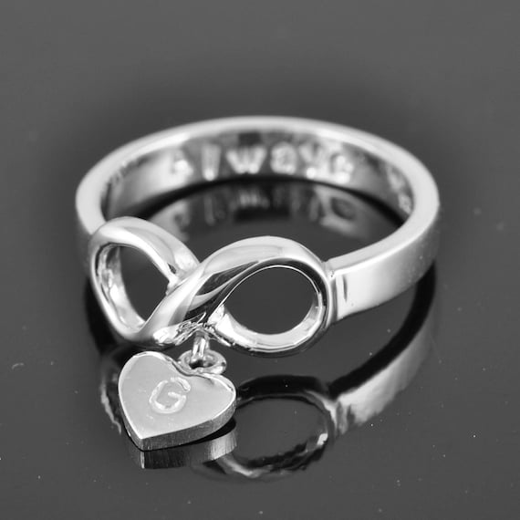 infinity ring infinity knot ring best friend ring promise