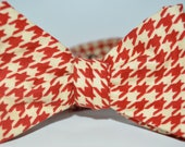 The Crimson Houndstooth Bow