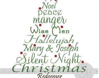 Christmas Digital Word Art