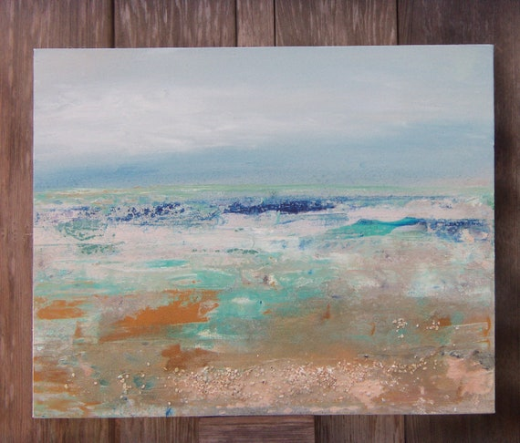 Abstract Acrylic Original Seascape Painting by Sheri  20x16