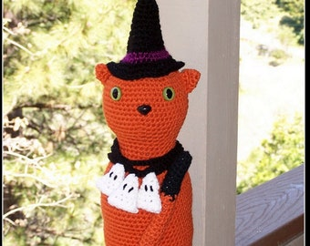 Items similar to Crochet Scarecrow Door Sto, art doll ...