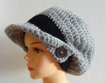 Large Crochet beret Winter Hat - Hand Crochet Hat - Winter Accessories Slouchy Beanie Crochet Hat Chunky Winter Fall Accessories Slouchy hat