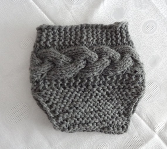 Baby Knit Cable Diaper Cover / Girl Diaper Cover / Newborn Diaper Cover  / Baby Shorts / Knit diaper cover photo prop