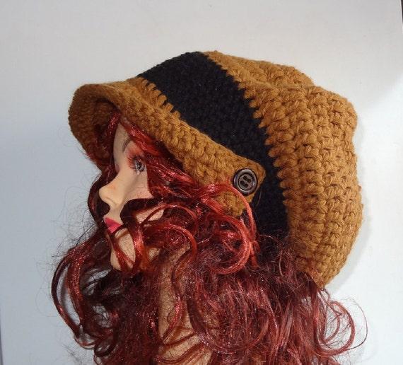 Elegant Large Crochet beret   Winter Hat - Hand Crochet  Hat - Winter Accessories