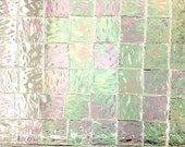 "100 3/8 IRIDIZED ""ICE"" Mosaic Tile Textured Stained Glass Supply Ice1"