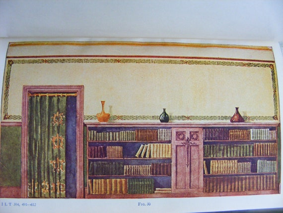 Rendering In Water Color architectural book early 1900s