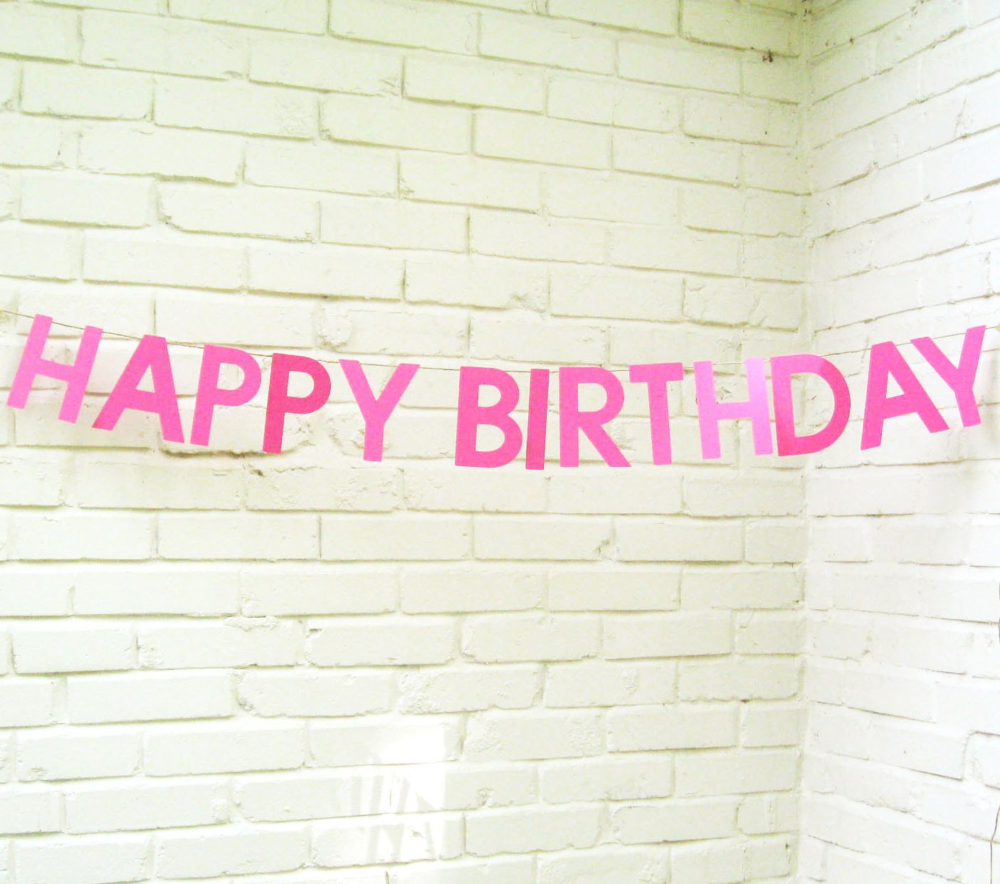 The Word Banner Happy Birthday Happy Birthday Banner Pink
