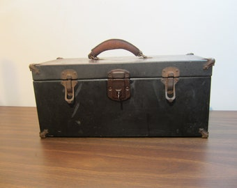 Vintage SK Metal Tool Box with Tray