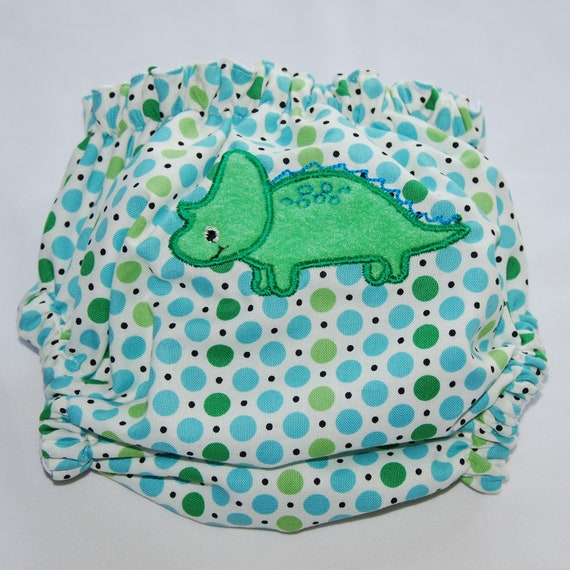 Embroidered Dinosaur OS Diaper Cover