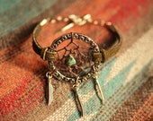 Boho Dream Catcher Bohemian Stackable Dreamcatcher Layering Bracelet Olive Suede Boho Jewelry