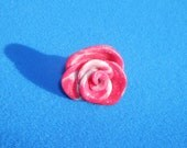 Pink and silver glitter rose ring
