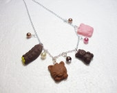 Chocolate Necklace. Polymer Clay.