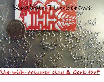 250 Scrabble Tile Eye Screw Bail Findings 8x4mm FAST US SHIPPER- Try Me