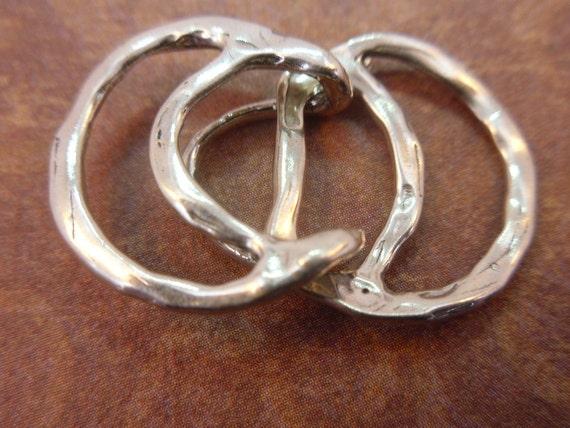 Three Circle Organic Sterling Silver Clasp (PS1-03)