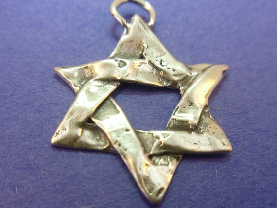 Star of David Jewish Star sterling silver Artisan Pendant Necklace option VERY UNIQUE  (PS5-04)