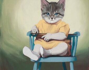 """Blue Chair - 9"""" x 9"""" print"""