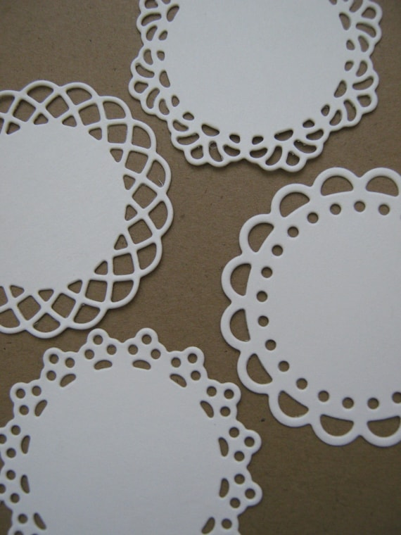 Custom college paper doilies