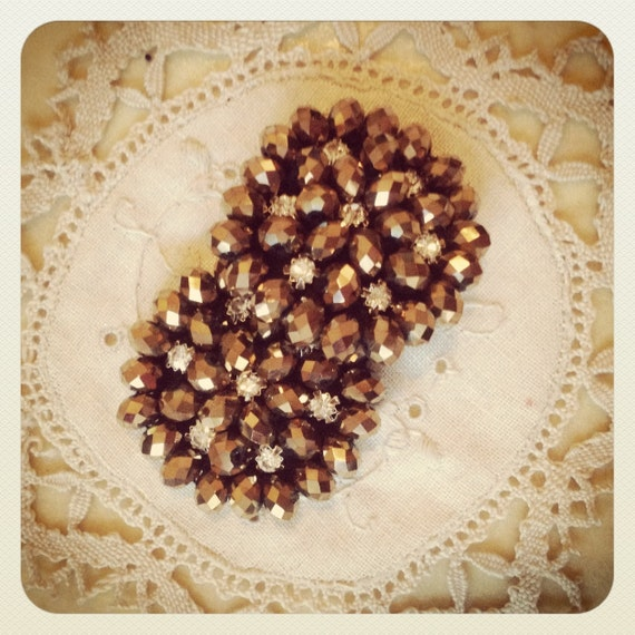 Small Sparkly Bronze Pasties Nipple By Talulahblueburlesque-1899