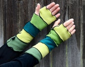 Spring Green Arm Warmers - LizaJaneNorman