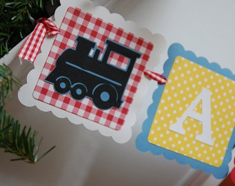 All Aboard Banner, Train Theme, Train Birthday Party, Choo Choo I'm 2, Train Banner