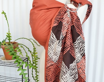 Baby Ring Sling Instruction Incl - Momma Scarlet  - Reversible Ring Sling with 2 Layers of High Quality 100% Cotton W. DVD