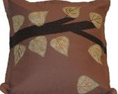 Brown Leaf Pillow