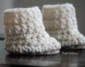 Crochet PATTERN - Crochet Baby Boots Pattern - Baby Booties Crochet Pattern - 2 Sizes Newborn to 12 Months - Photo Prop Pattern - PDF 131