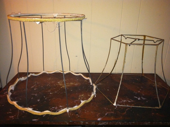 Vintage Wire Lampshades
