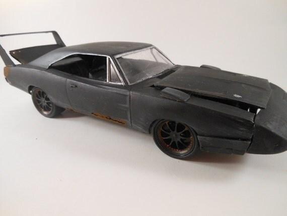 Dodge Daytona 1/24 scale model car in black