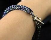 Anodized Titanium Chain Maille Bracelet