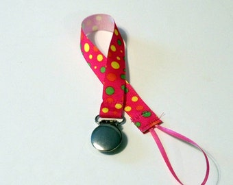 Pacifier Clip Pacifier Holder Pink Ribbon