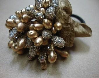 Gold Sparkle Millinery Stamen Bouquet Boutonniere Corsage