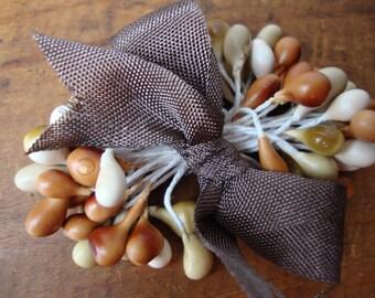 Mushroom Bisque Millinery Stamen Bundle