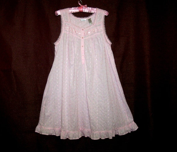 Size Medium Vintage Embroidered Nightgown By Adonna Waltz