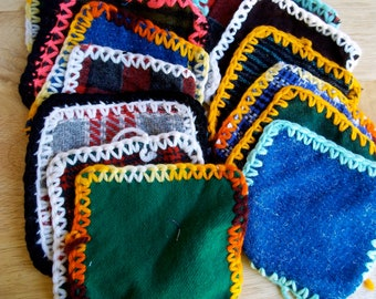 Vintage Wool Crochet UFO and Wool Squares