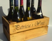 Personalised wine crate