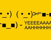 Funny T shirt ascii art sunglasses yeaahh television csi meme women men youth teen kids ladies tshirt gold XS S M L Xl 2xl 3xl 4xl 5xl