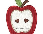 Instant Download Heart of the Apple Machine Embroidery Applique Design 4x4, 5x7 and 6x10
