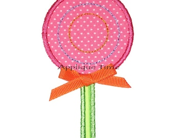 Instant Download Lollipop Machine Embroidery Applique Design Mini, 4x4, 5x7 and 6x10
