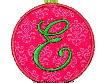 Instant Download ITH Circle Key Chain Luggage Tag Machine Embroidery Applique Design 5 sizes