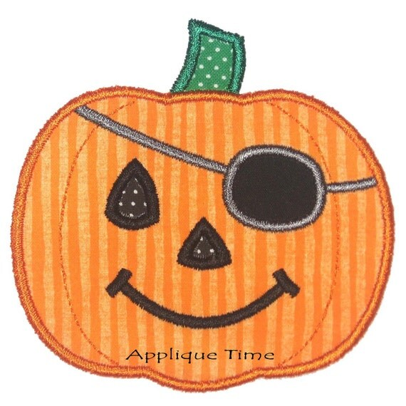 Instant download pirate pumpkin machine embroidery